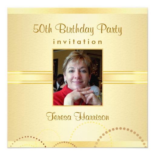 Invitation Maker Design Your Own Custom Invitation Cards: 50th Birthday Party Invitations - Create Your Own