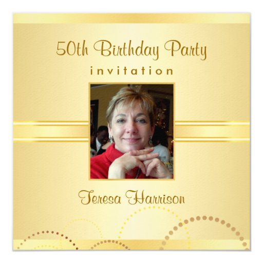50th Birthday Party Invitations - Create Your Own