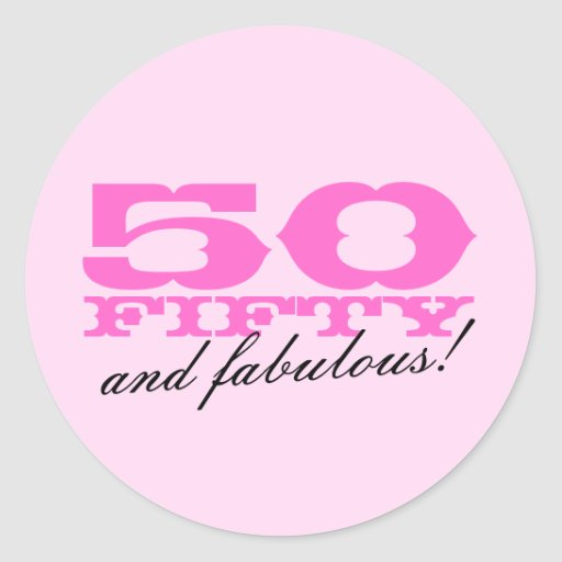 50 And Fabulous Text: 50th Birthday Stickers