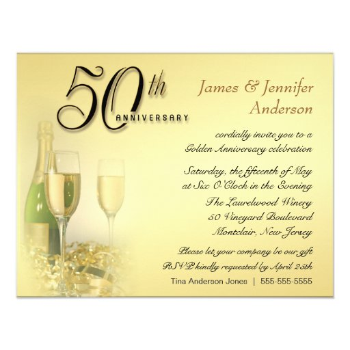 42nd Wedding Anniversary Quotes: 50th Golden Anniversary Party Invitations