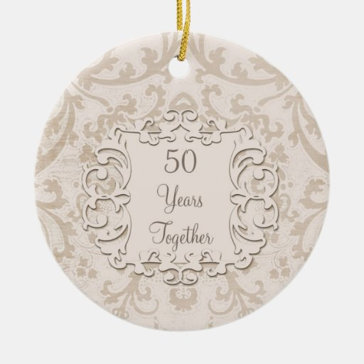 50th Golden Wedding Anniversary Custom Photo Double-Sided ...