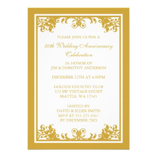 50th Wedding Anniversary Invitation Ideas: Wedding World: 50th Wedding Anniversary Gift Ideas