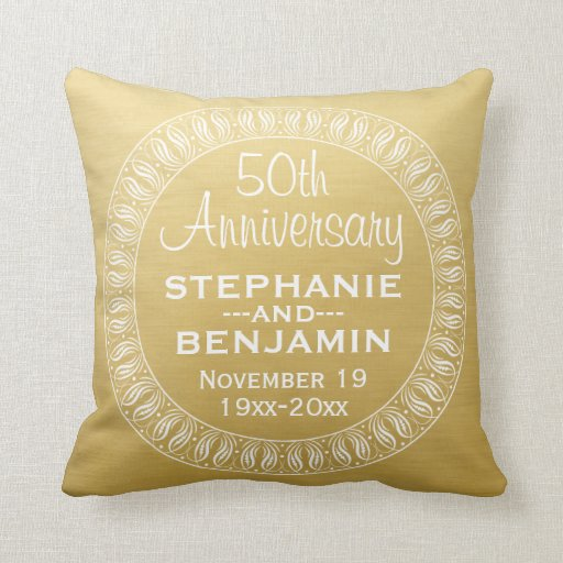 50th Wedding Anniversary Throw Pillow | Zazzle |50th Wedding Anniversary Pillows