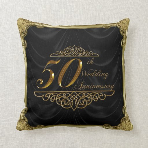 Leaves of Gold 50th Wedding Anniversary Pillow | Zazzle |50th Wedding Anniversary Pillows