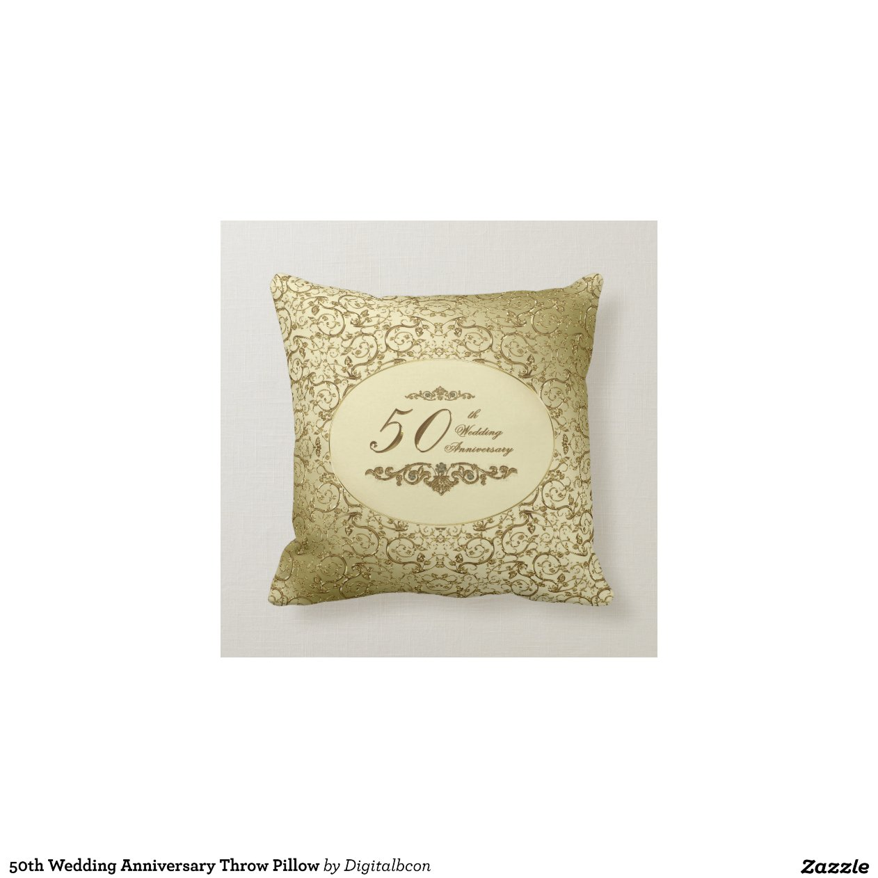 50th Wedding Anniversary Personalized Pillow | Zazzle |50th Wedding Anniversary Pillows