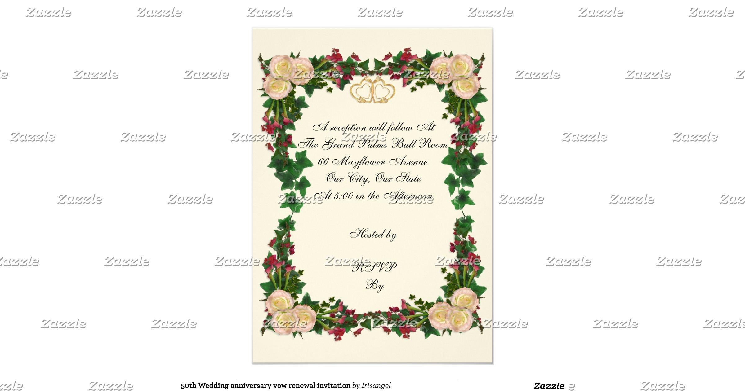 50th Wedding Vow Renewal Invitations: 50th_wedding_anniversary_vow_renewal_invitation