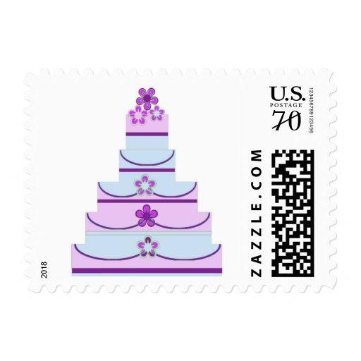 Cent Wedding Cake Stamp