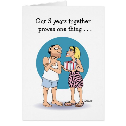 Almost One Year Anniversary Quotes: 5 Year Anniversary Card: Love