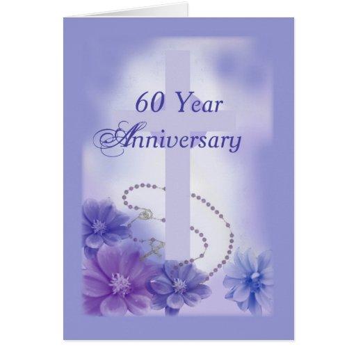 60 year anniversary plum religious greeting card  zazzle