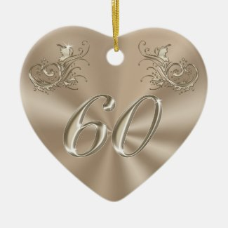 60th Anniversary Ornament, Personalized or Not