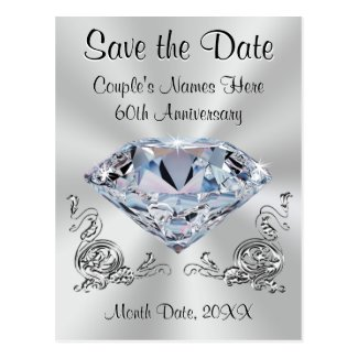 60th Anniversary Save the Date Cards PERSONALIZED