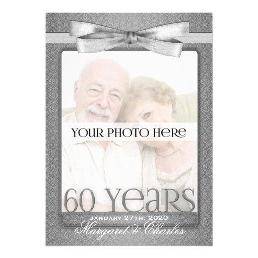Diamond Wedding Invitation Label: Personalized 60th Anniversary Invitations