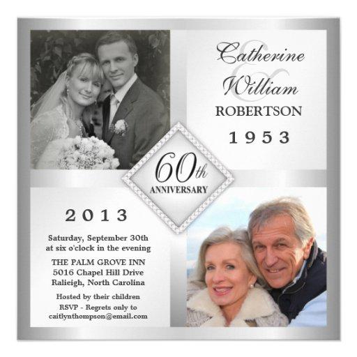 Personalized 60th Anniversary Invitations