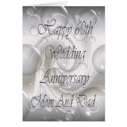 25th Wedding Anniversary Gifts For Mum And Dad: 60th Wedding Anniversary For Mom And Dad Card