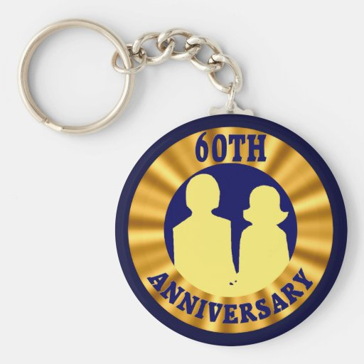 Gifts For 60th Wedding Anniversary: 60th Wedding Anniversary Gifts Keychain