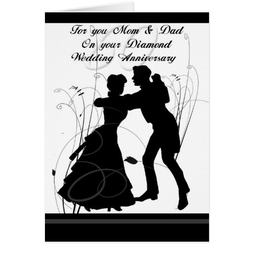 25th Wedding Anniversary Gifts For Mum And Dad: 60th Wedding Anniversary Mom & Dad Greeting Card