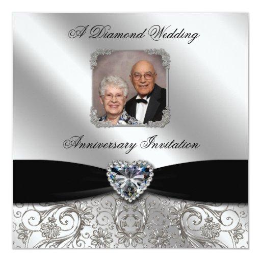 60th wedding anniversary photo invitation card  zazzle