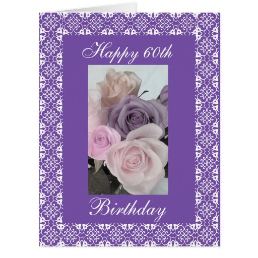 60th S Birthday Roses Change Age Card Zazzle