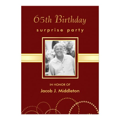 Personalized 65th Birthday Party Invitations