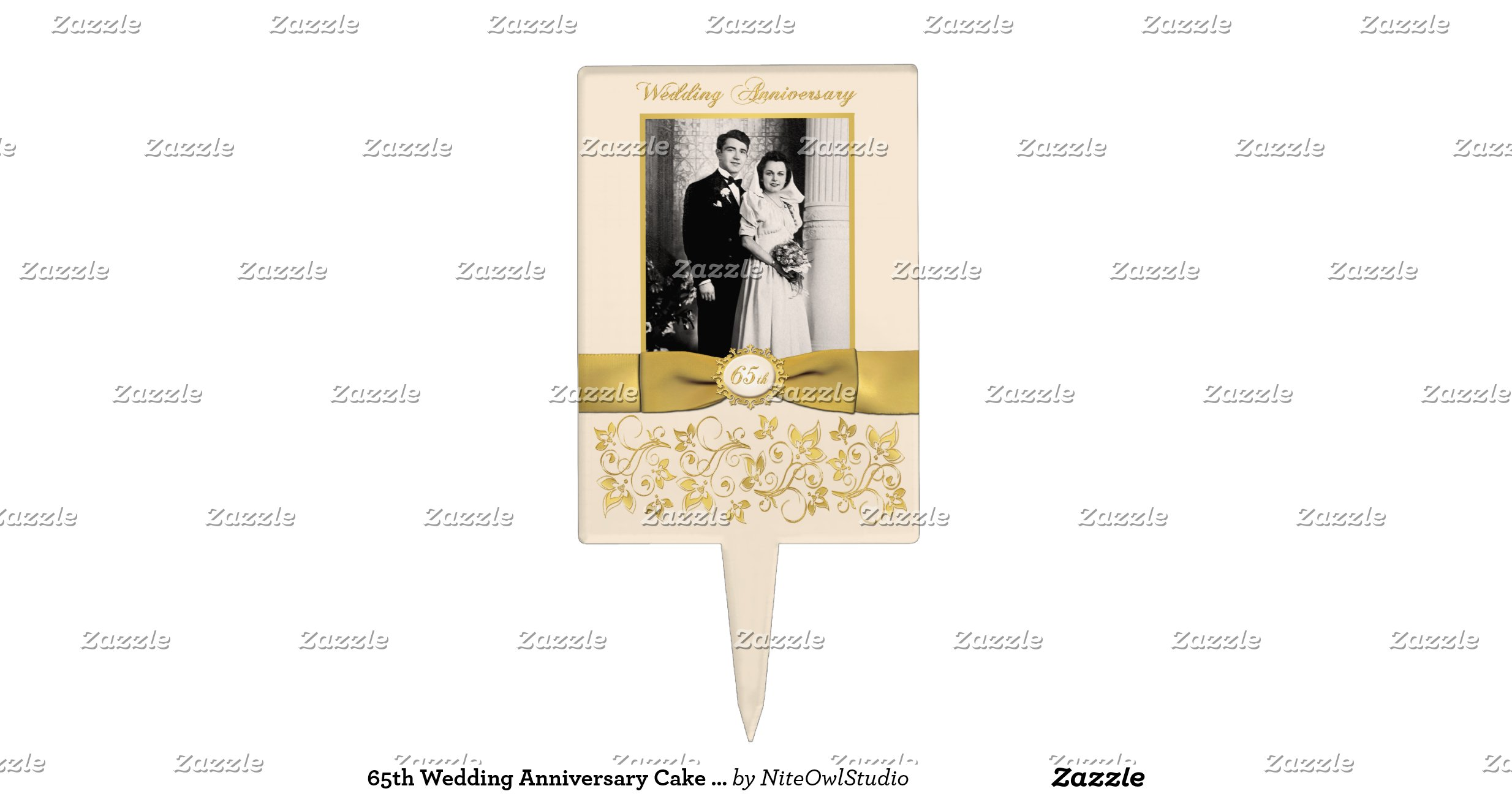 65th Wedding Anniversary Gift Ideas: 65th_wedding_anniversary_cake_pick_with_photo
