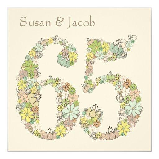 Gifts For 65th Wedding Anniversary: 65th Wedding Anniversary Custom Invitation