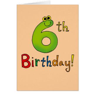 Source 6 Year Birthday Card Template 28 Images 6th Six