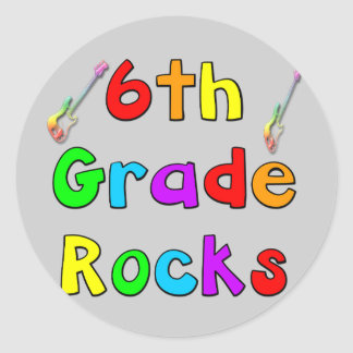 6th Grade Rocks 3 Inch Round Magnet | Zazzle |Sixth Grade Rocks