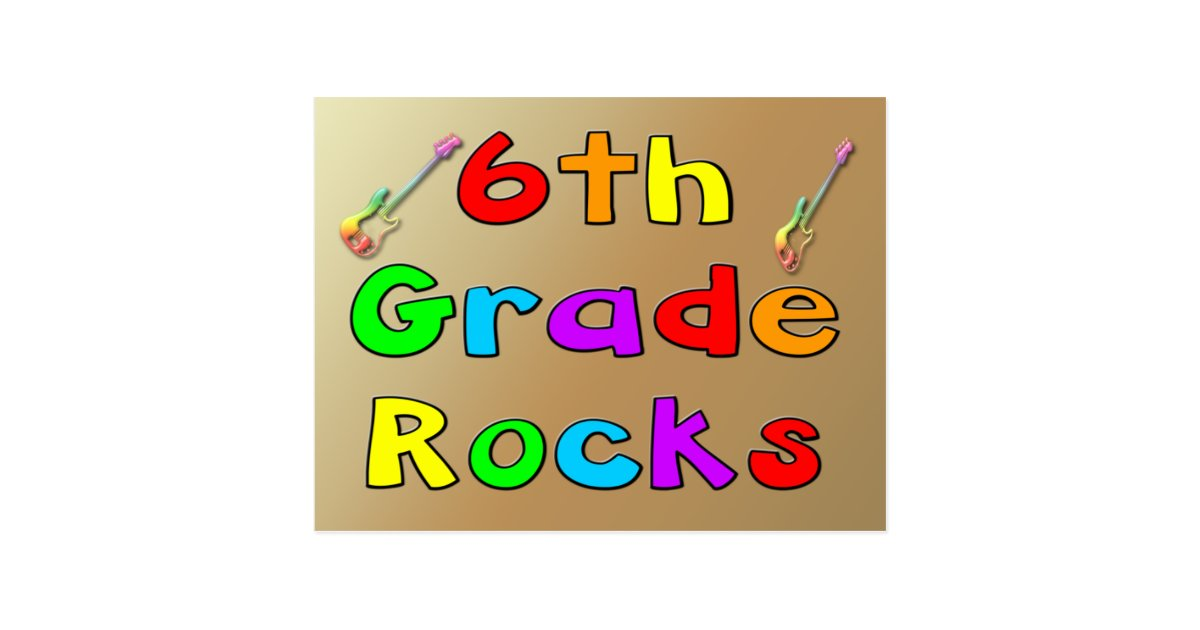 6th Grade Rocks Sixth Postcard | Zazzle |Sixth Grade Rocks