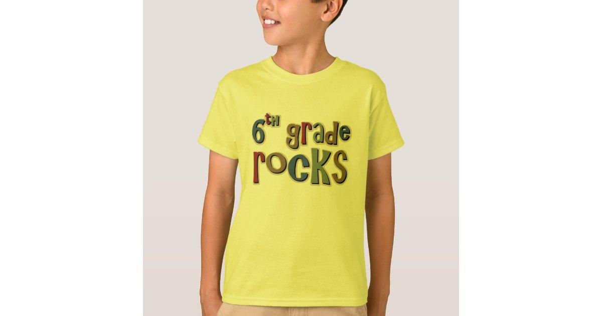 Multicolor 6th Grade Rocks Classic Round Sticker | Zazzle |Sixth Grade Rocks