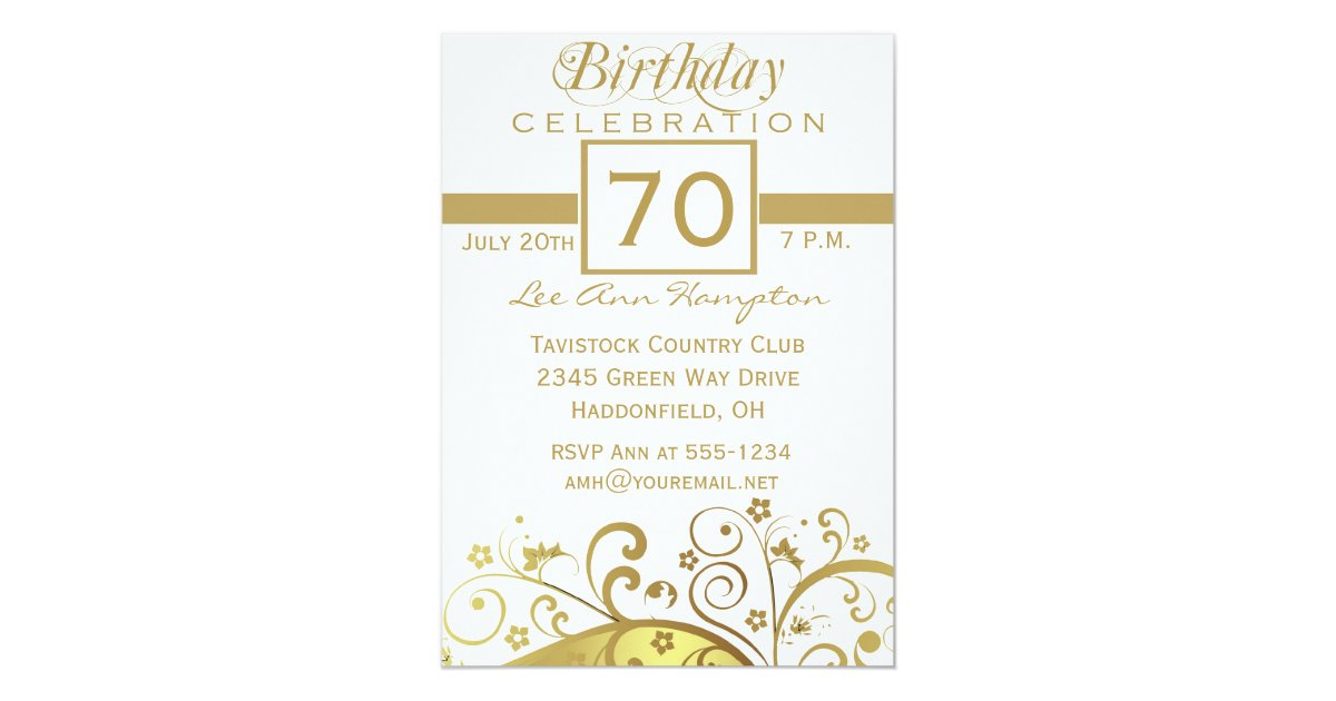 70th - 79th Birthday Party Invitations | Zazzle
