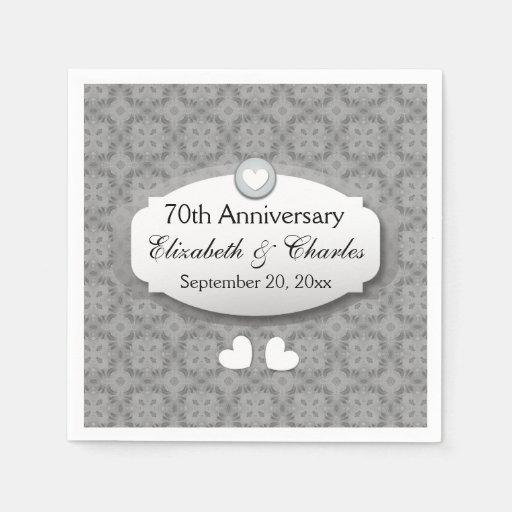70 Year Wedding Anniversary Gifts: 70th Anniversary Wedding Anniversary Platinum Z03 Paper