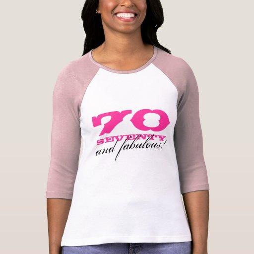 Fab At 70: 70th Birthday Shirt