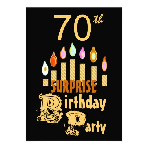 Personalized 71st Invitations