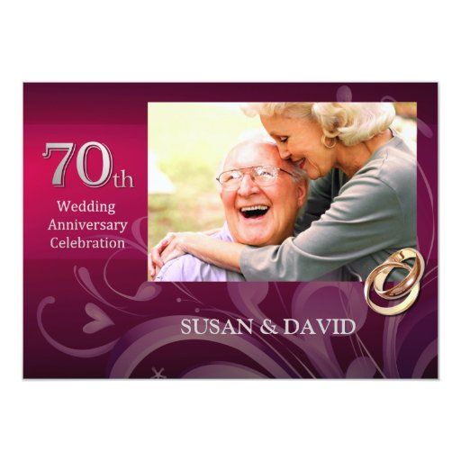 70th Wedding Anniversary Gift: 70th Wedding Anniversary Party Invitations