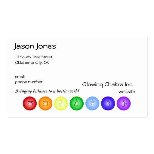 Line Card Examples: Chakra Business Card Business Card Templates
