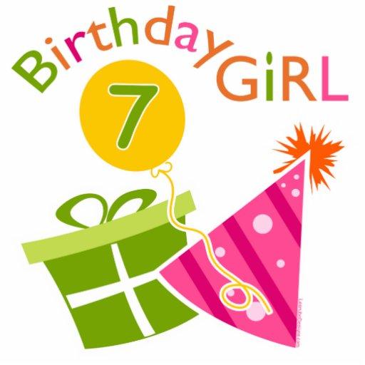 7th Birthday - Birthday Girl Photo Cutouts