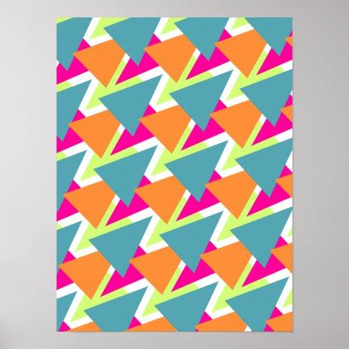 80's Geometric Pattern Poster