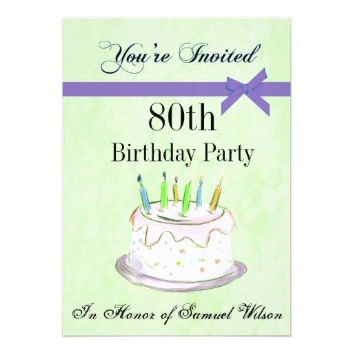 """Celebrating 70th Birthday Quotes: 80th Birthday Party Personalized Invitation 5"""" X 7"""