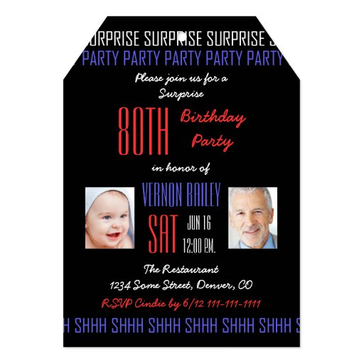 80th Surprise Birthday Party Invitation For Men