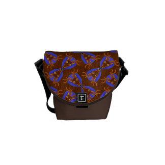 8-Point Buck Deer Hunting Trophy on Wood Grain Messenger Bags