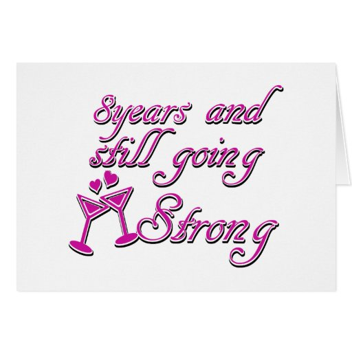 8th Wedding Anniversary Gift For Her: 8th Wedding Anniversary Card