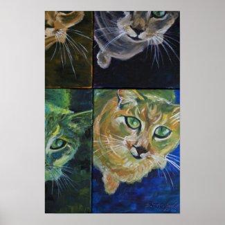 9 Lives: one cat, 4 views print