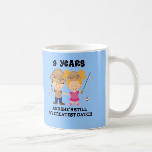 9th Wedding Anniversary Gift For Him Mugs