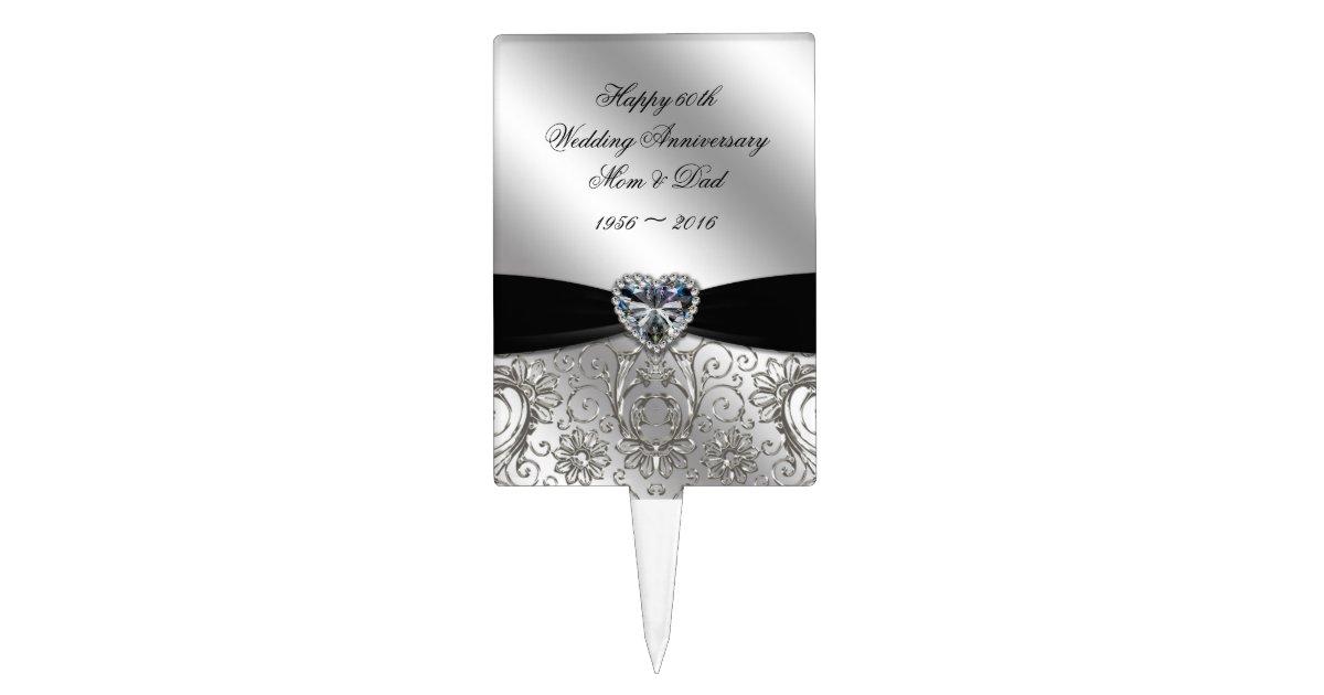 A 60th Diamond Wedding Anniversary Cake Topper Zazzle