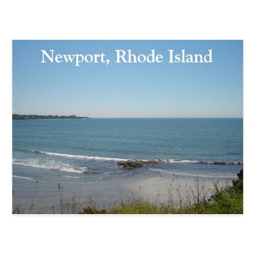 Island Beach Scenes: A Beach Scene In Newport, Rhode Island Postcard