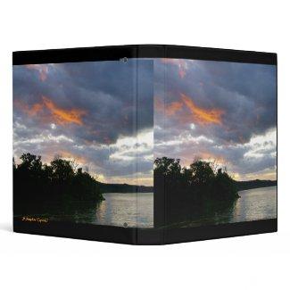 A Beautiful Sunrise Along Ohio River binder