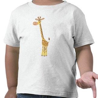 A cartoon giraffe Children T-shirt shirt