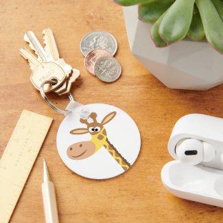 A cartoon giraffe keychain keychain