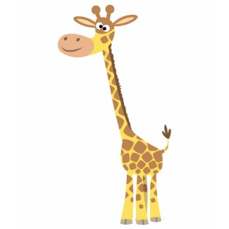 A cartoon giraffe Women T-shirt shirt