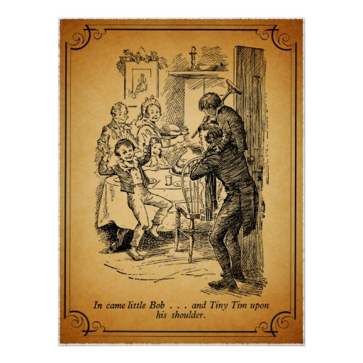 Tiny Tim A Christmas Carol: A Christmas Carol: Little Bob & Tiny Tim Poster